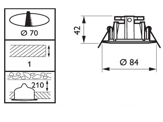 Kích thước phổ biến của đèn Led âm trần