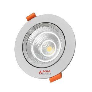 Đèn LED Âm Trần 7W Mặt Kính COB Vàng