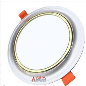 Đèn LED âm trần mặt cong viền vàng 3 màu 9W