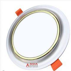 Đèn LED âm trần mặt cong viền vàng 3 màu 5W