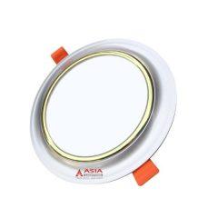 Đèn LED Âm Trần Mặt Cong Viền Vàng 3 Màu