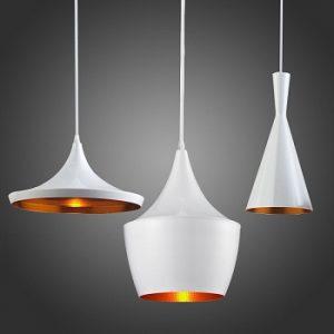 Đèn thả bàn ăn 3 chao ABC màu trắng DPA-101
