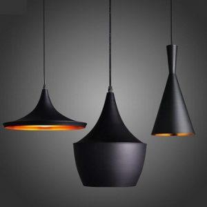 Đèn thả bàn ăn 3 chao ABC màu đen DPA-101