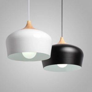 Đèn thả bàn ăn đui gỗ màu đen DPA-102