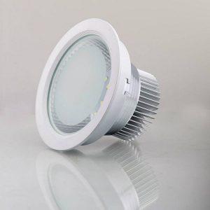 Đèn LED Âm Trần Mặt Kính 7W Vàng