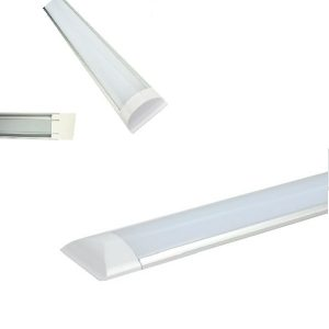 Đèn Tuýp LED Liền Máng Bán Nguyệt 1M2 Vàng