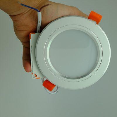 Đèn LED Âm Trần Mặt Bạc 5W Trắng