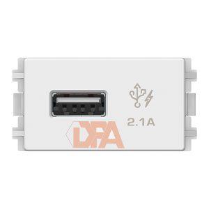 Hạt Ổ Sạc USB 2.1A Đơn Zencelo Màu Trắng Size S